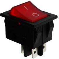 Interrupteur commutateur contacteur bouton à bascule DPST ON-OFF 15A/250V 2 positions rouge