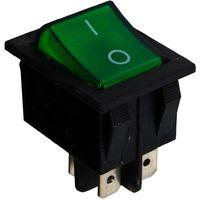 Interrupteur commutateur contacteur bouton à bascule DPST ON-OFF 15A/250V 2 positions vert