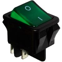 Interrupteur commutateur contacteur bouton à bascule DPST ON-OFF 16A/250V 2 positions vert