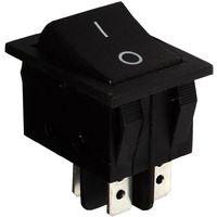 Interrupteur commutateur contacteur bouton à bascule noir DPST ON-OFF 15A/250V 2 positions