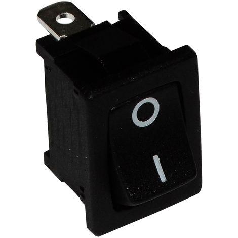 Interrupteur commutateur contacteur bouton /à bascule noir DPST ON-OFF 6A//250V 2 positions AERZETIX