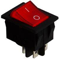 Interrupteur commutateur contacteur bouton à bascule rouge DPST ON-OFF 15A/250V 2 position