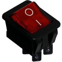Interrupteur commutateur contacteur bouton à bascule rouge DPST ON-OFF 16A/250V 20A/28V 2 positions