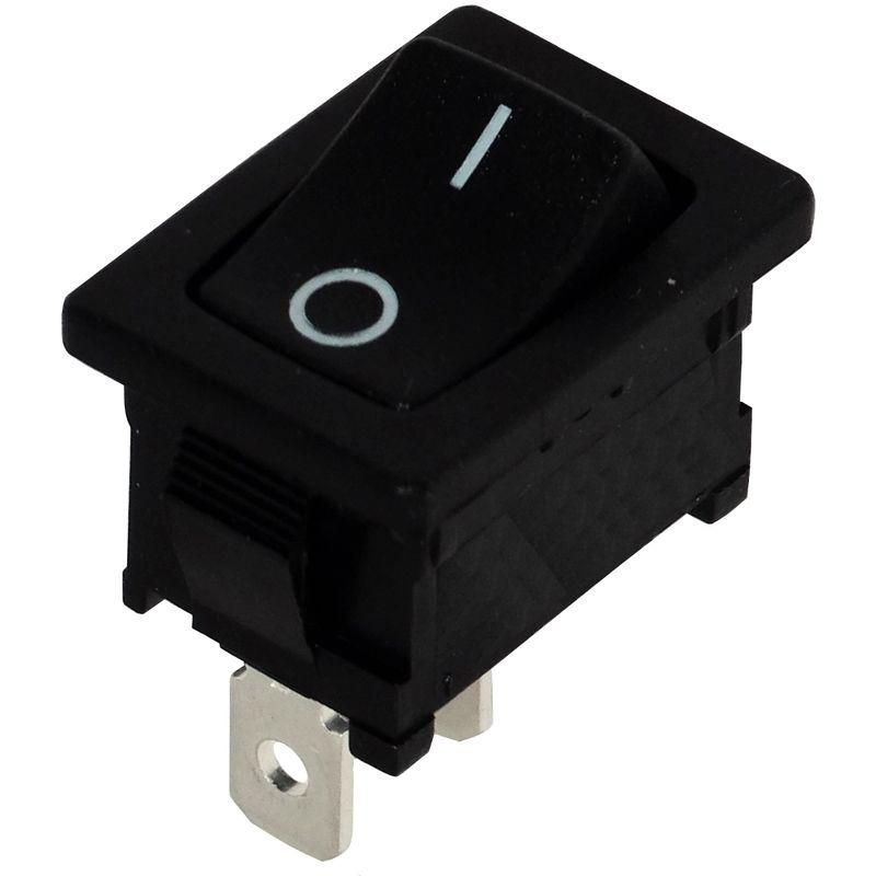 AERZETIX Interrupteur commutateur contacteur bouton /à bascule noir SPST ON-OFF 6A//250V 2 positions