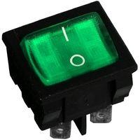 Interrupteur commutateur contacteur bouton à bascule vert DPST ON-OFF 10A/250V 10A/28V 2 positions