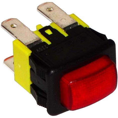 Interrupteur commutateur contacteur bouton rouge DPST-NO 16A/250V 2 position