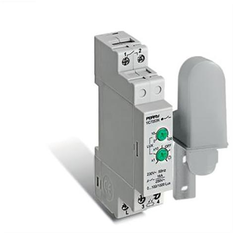 Interrupteur crépusculaire 0-1000 Lux 1DIN - Perry