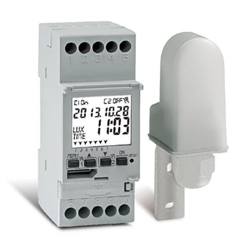 Interrupteur crépusculaire horaire digital LUX-TIME 2 cannaux 2 DIN - Perry