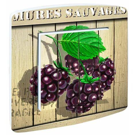 """main image of """"Interrupteur cuisine Fruits rouges Mûres sauvages - Violet"""""""