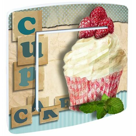 "main image of ""Interrupteur cuisine rustique CupCake Framboise - Rose"""