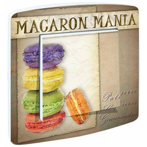 "main image of ""Interrupteur cuisine rustique Macarons Gourmand - Rose"""
