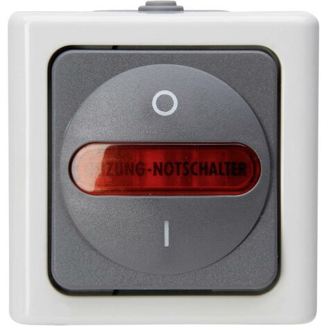 Interrupteur darrêt durgence pour chauffage Kopp 562356009 BlueElectric gris