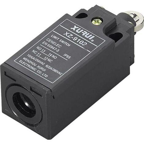 Interrupteur de fin de course TRU COMPONENTS XZ-9/102 1426631 250 V/AC 10 A poussoir à galet à rappel IP65 1 pc(s)
