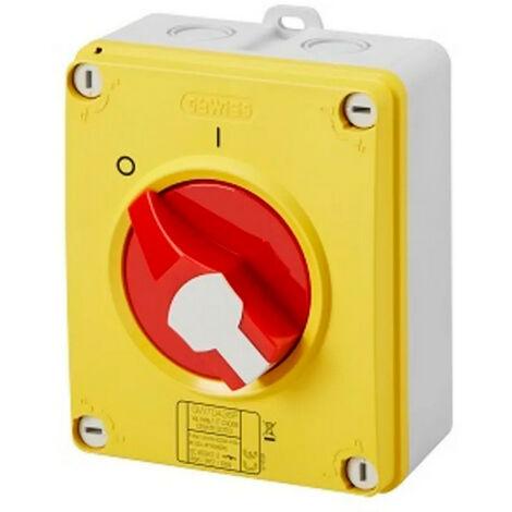 Interrupteur de proximité 2P 32A IP65 - Rouge / Gewiss