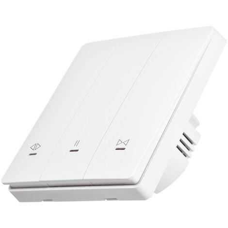 Interrupteur De Rideau Intelligent Tuya Wifi + Bluetooth, Interrupteur De Commande De Rideau Rf 433 Mhz, Prise En Charge De La Commande Vocale App Mobile, Sans Interrupteur Mural