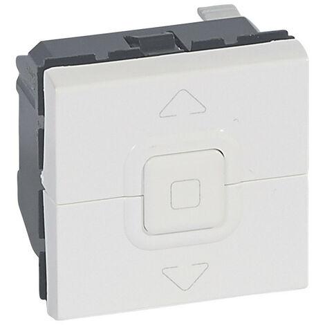 Interrupteur de volets roulants 500W maximum Mosaic 2 modules blanc antimicrobien (078705)
