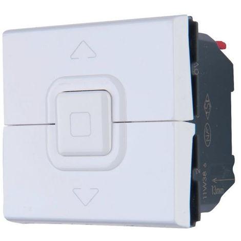 Interrupteur de volets roulants Mosaic 500W max. - 2 modules - Blanc - Legrand
