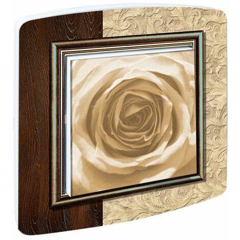 Interrupteur design Fleurs Rose Ancienne - Doré