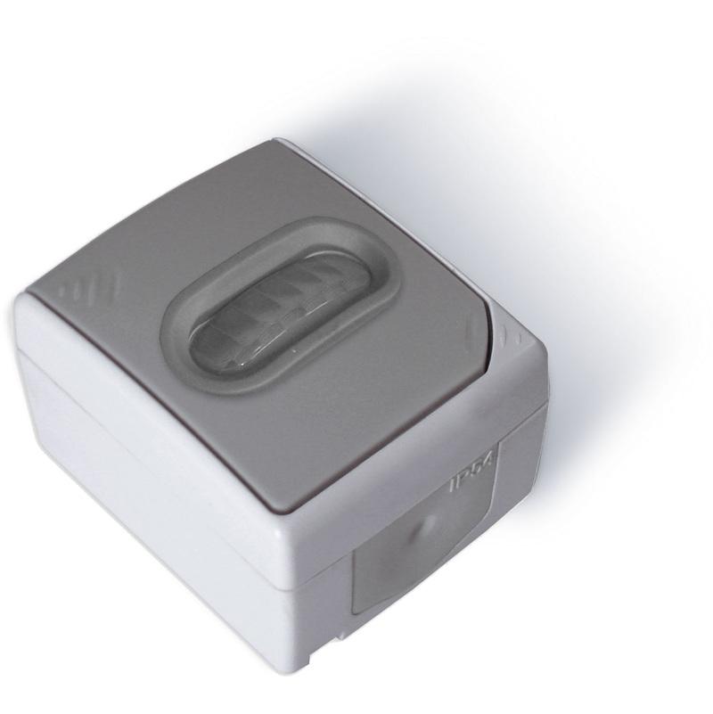 Audacieuse Interrupteur détecteur de mouvement Gris Clair - IP54 - 131661 SU-14