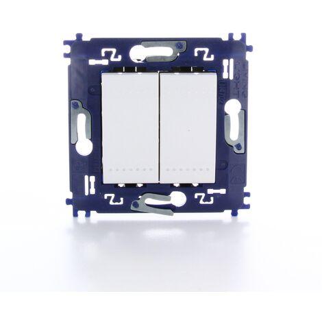Interrupteur deux directions Legrand - 'Livinglight' double à vis Blanc