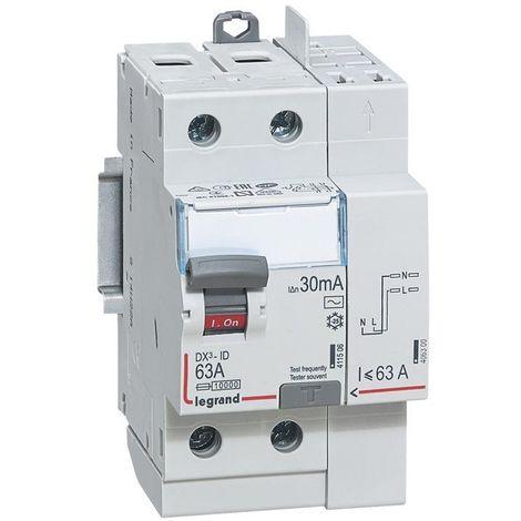 Interrupteur différentiel DX³-ID - 2P 230V - typeAC 30mA
