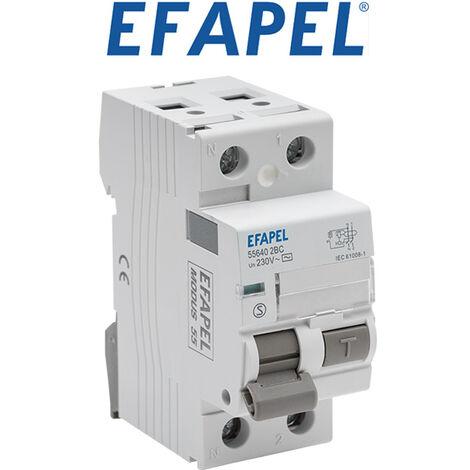 Interrupteur différentiel 2 pôles 30mA AC 63A - Efapel