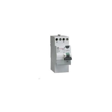 Interrupteur différentiel 230 V - 40/63A - type A et AC - connexion auto - General Electric UNIBIS