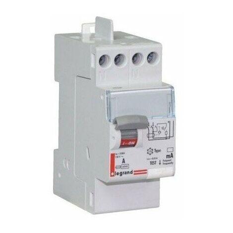 Interrupteur différentiel - 25A - 30mA - Type A - 230V - Vis/auto