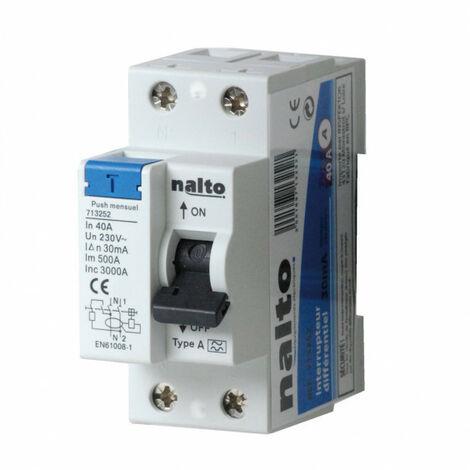 Interrupteur différentiel 25A - 30mA type AC NALTO