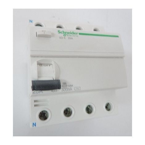 Interrupteur différentiel 25A 4P 300mA type AC NF 230…240 V AC 50 Hz Acti9 iIDK SCHNEIDER A9R56425