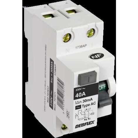Interrupteur différentiel 2P 30MA - Debflex