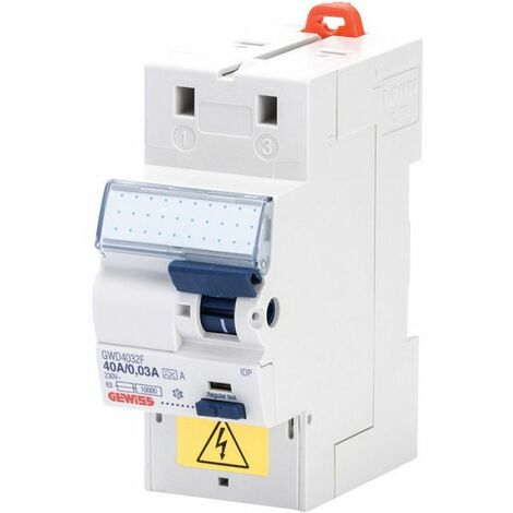 Interrupteur différentiel 2P 30mA FIXMATIC, protection des départs . Gewiss