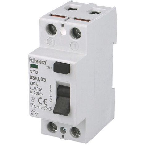 Interrupteur Différentiel 2P 40A / 30mA / type A Iskra