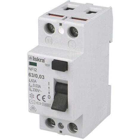 Interrupteur Différentiel 2P 40A / 30mA / type AC Iskra