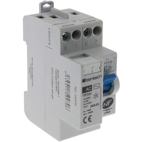 Interrupteur différentiel 30mA NF - Type A ou AC - 25, 40 ou 63A
