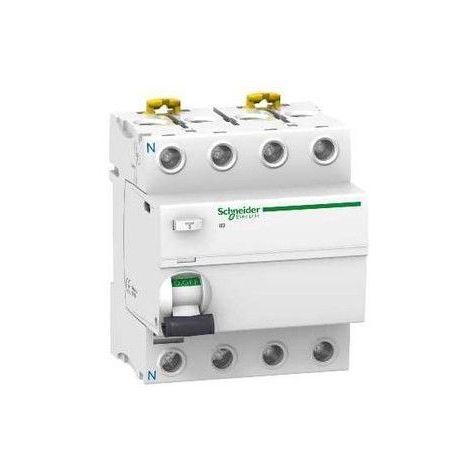 Interrupteur différentiel 30mA tétrapolaire 40A