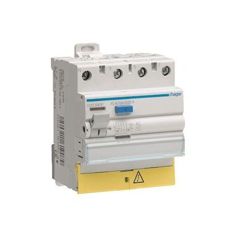 Interrupteur différentiel 3PN 63A 300mA type AC à bornes décalées