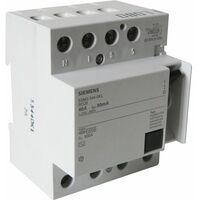 Interrupteur différentiel 4 pôles 30 mA 40 A Type AC - SIEMENS