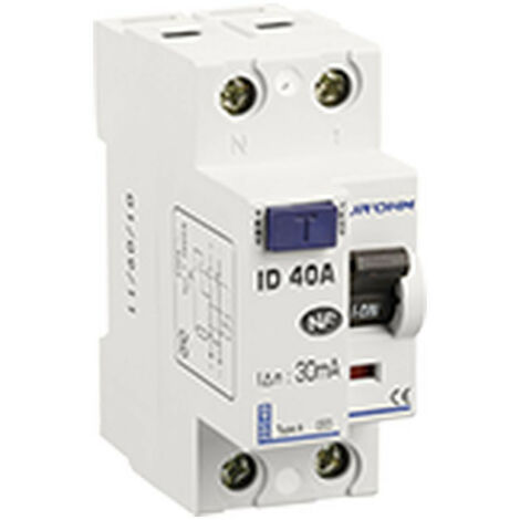 Interrupteur différentiel 40A 1P+N 30mA classe A (23140)