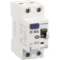 Interrupteur Différentiel 40A 1P+N 30mA Classe AC Eur'ohm