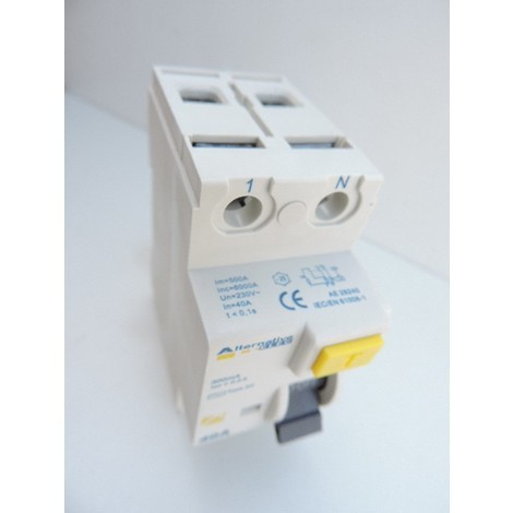 Interrupteur differentiel 40A 2P 300mA type AC bornes vis norme CE ALTERNATIVE ELEC AE28240
