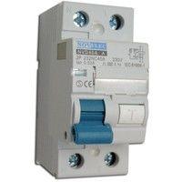 Interrupteur différentiel 40A 2P 30mA type A borne vis norme CE NVD NOVELEC 2P232NC40A