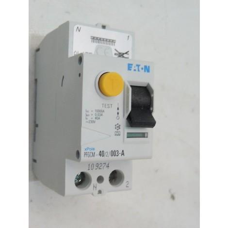 Interrupteur différentiel 40A 2P 30mA type A sans vis (109274) XPole clip EATON POWER QUALITY (MGE) PFGCM-40/2/003-A