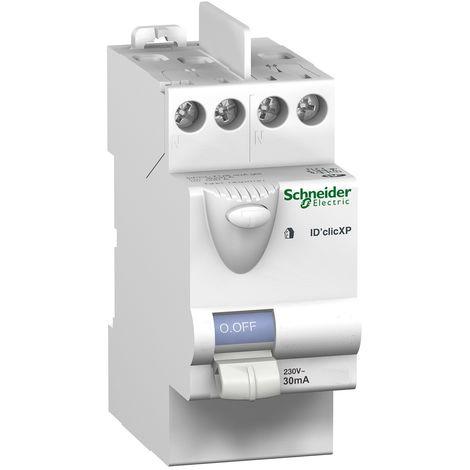 Interrupteur différentiel 40A 2P 30mA type AC instantané IDclic XP SCHNEIDER ELECTRIC 23160