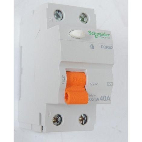 Interrupteur differentiel 40A 2P 500mA type AC bornes vis DOMAE DCKB2 SCHNEIDER 11027