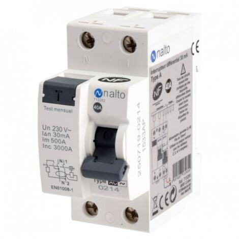 Interrupteur différentiel 40A 30 mA type AC NALTO