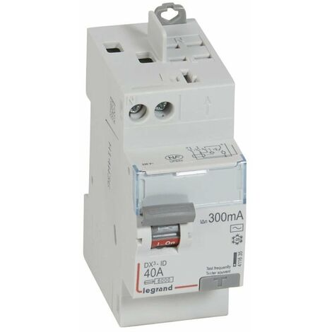 Interrupteur différentiel - 40A - 300mA - Type AC - 230V - Vis/auto