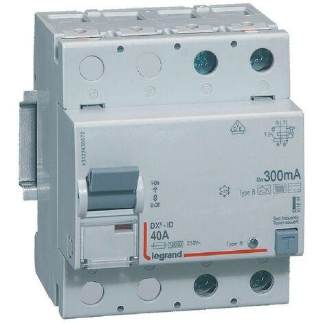 Interrupteur différentiel - 40A - 300mA - Type B - 230V - Vis/vis - Haut/bas