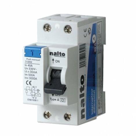 Interrupteur différentiel 40A - 30mA type A NALTO