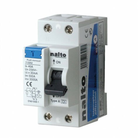 Interrupteur différentiel 40A - 30mA type AC NALTO